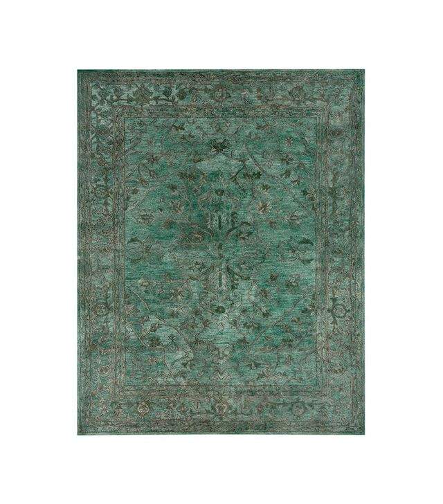Pottery Barn Brady Persian Rug in Teal