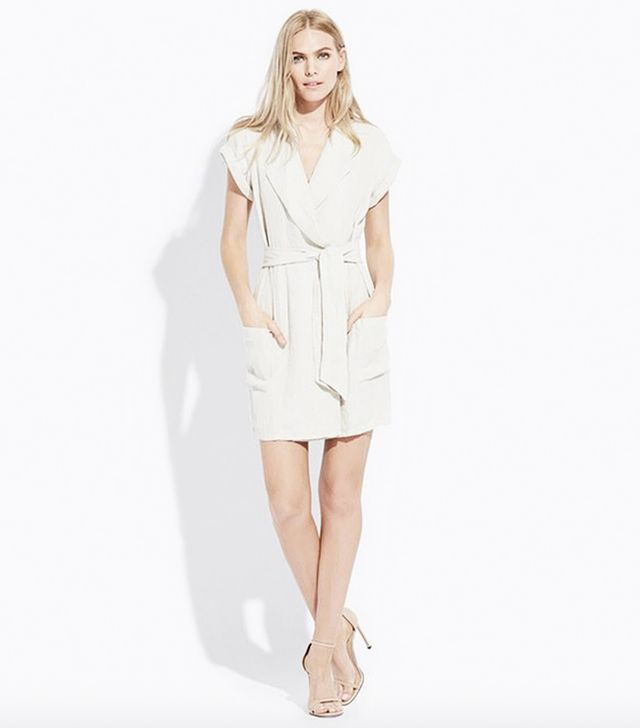AYR Linen Roll-Sleeve Dress