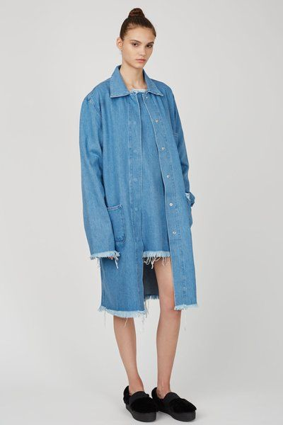 Marques'Almeida Denim Macintosh Jacket