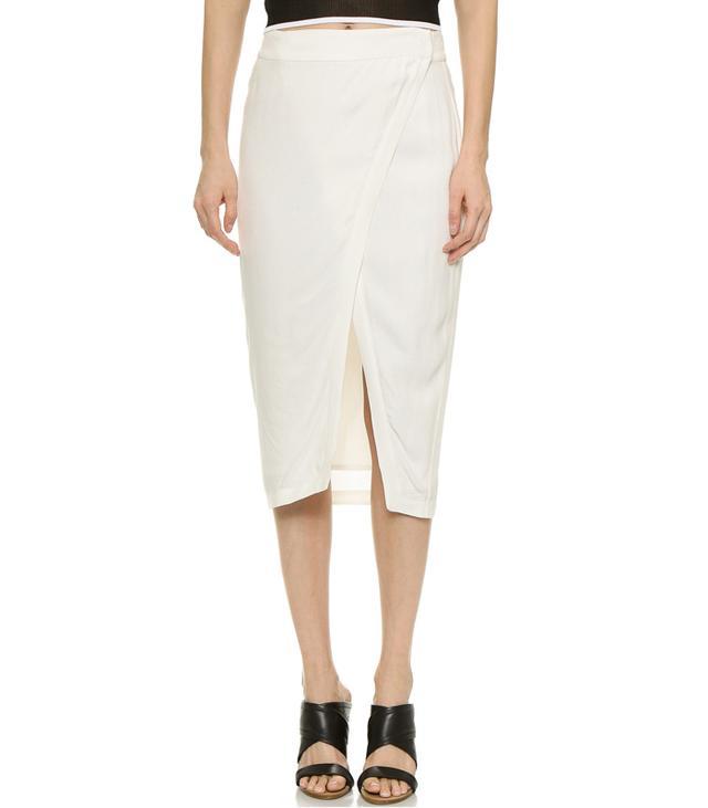 Addison Repetti Asymmetrical Wrap Skirt