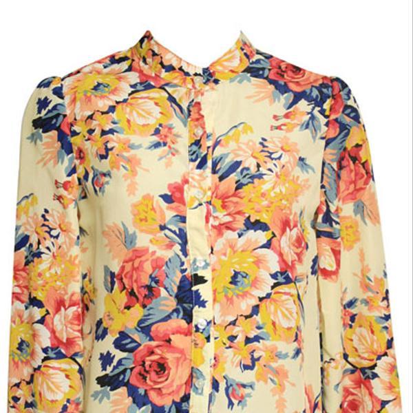 Romwe Floral Print Blouse