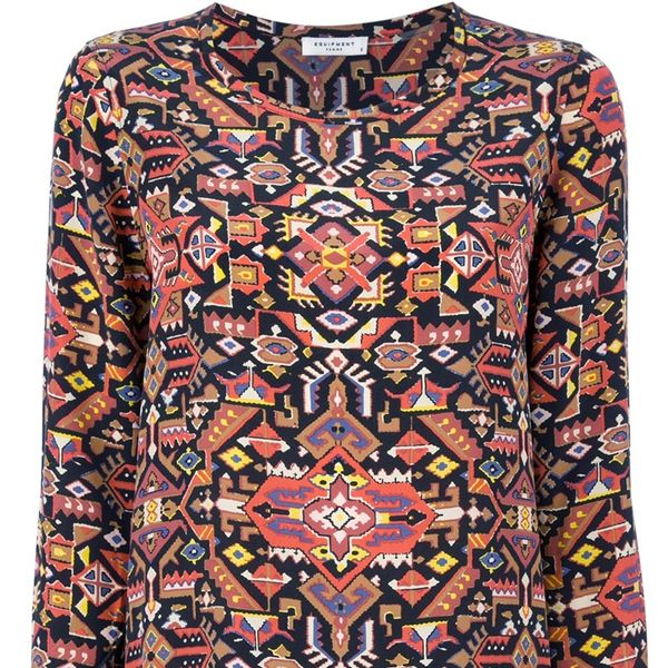 Equipment  Tribal Print Top