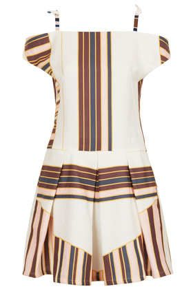 Topshop  Canvas Stripe Party Dress by Boutique