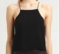 T by Alexander Wang T by Alexander Wang Cropped Silk Chiffon Camisole