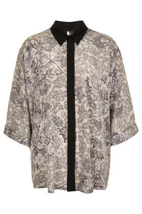 Topshop Oversize Floral Shirt