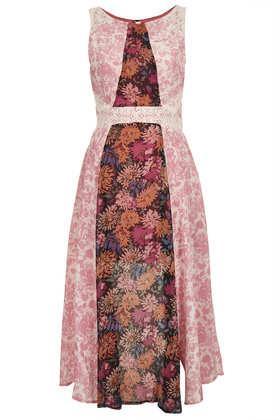 Topshop Floral Panel Dress