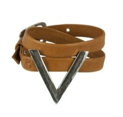 The 2 Bandits  The 2 Bandits Leo's Arrows Leather Wrap Bracelet