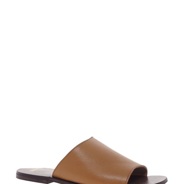 ASOS  Friday Leather Mule Flat Sandals