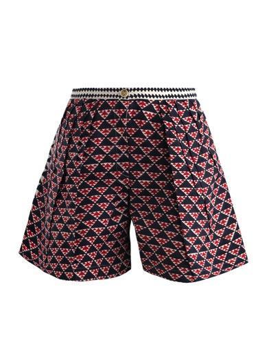 Thierry Colson  Kenya Geometric-Print Shorts