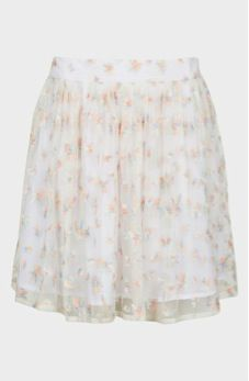 Topshop  Topshop Embroidered Skater Skirt