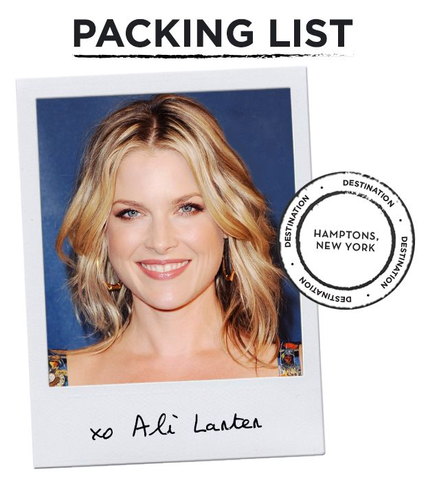 Take A Peek Inside Ali Larter's Hamptons-Bound Suitcase