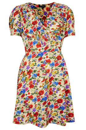 Topshop  Poppy Shirred Tea Dress