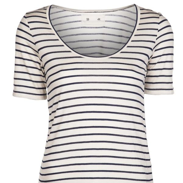 194T  Skinny Stripe Relaxed T-Shirt
