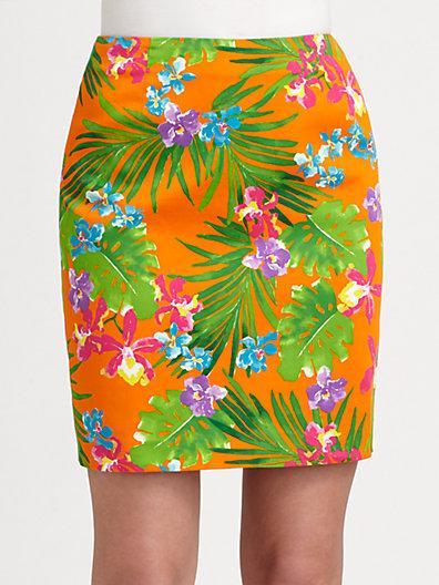 Ralph Lauren Black Label  Kasey Floral Skirt