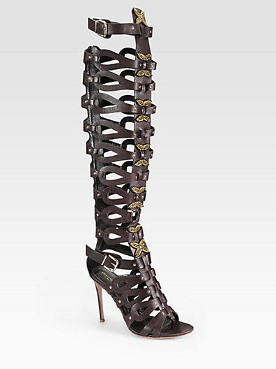 Altuzarra   Leather Gladiator Over-The-Knee Boots