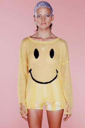 Wildfox Couture 90s Smile Sweater in Happy Face