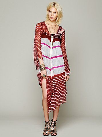 Lov Project  Lovely In Stripes Hooded Kaftan