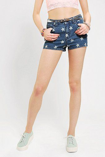 BDG  Printed Erin High-Rise Denim Short