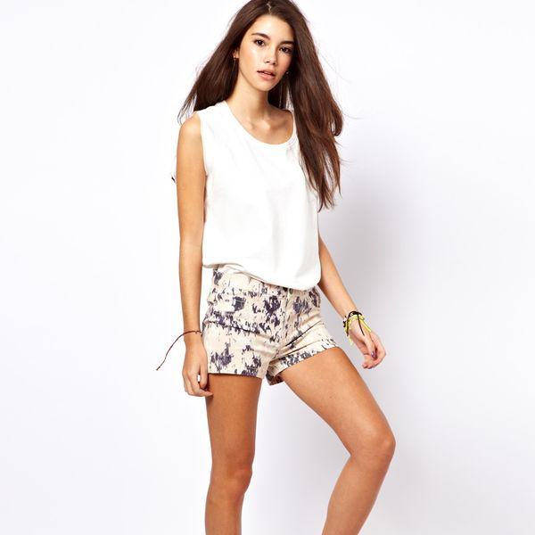 Only  Blur Print Shorts
