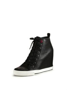 DKNY DKNY Perforated Leather Sneaker Wedges