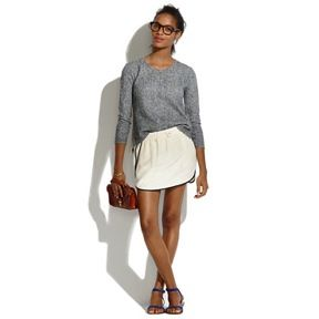 Madewell Madewell Piped Silk Mini Skirt