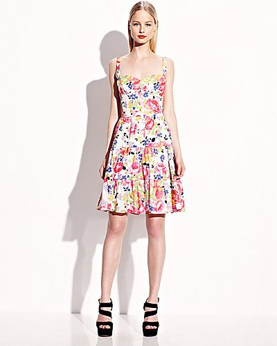 Betsey Johnson  Tiered Button Front Print Sundress