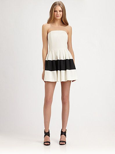 Rachel Zoe  Margaret Strapless Colorblock Dress