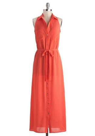 Modcloth Guava Fresca Dress