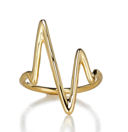Sarah Chloe Large Heart.Beat Ring