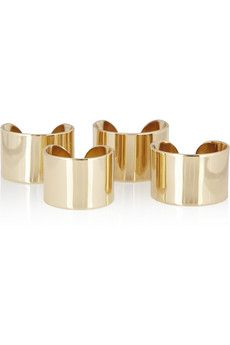Maison Martin Margiela Set Of Four Knuckleduster Rings