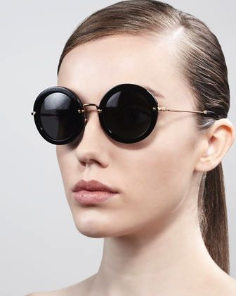 Miu Miu  Oversize Circle Sunglasses