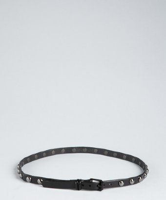 Brave Belts  Black Leather Studded Belt