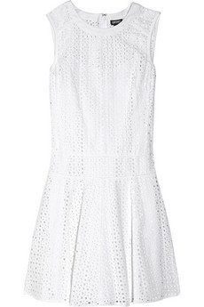DKNY  Broderie Angalise Cotton Dress