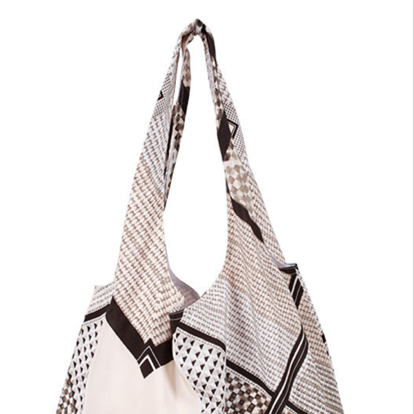 Cynthia Vincent Geo Patchwork Classic Shopper Bag