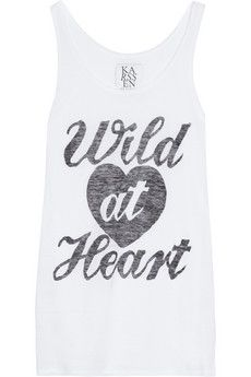 Zoe Karssen Wild At Heart Cotton And Modal-Blend Tank
