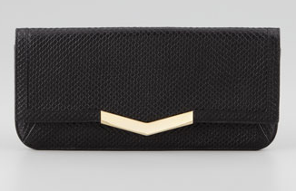 Time's Arrow Embossed Gya Clutch Bag