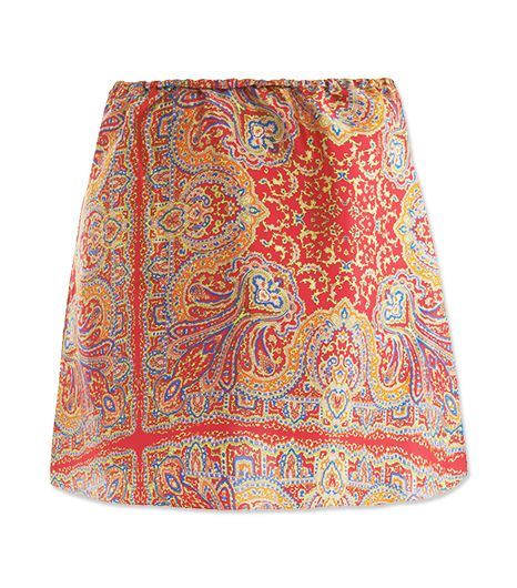 Dressier fabrics like this silk skirt are always a safe bet. Unless you're dressed in sporting attire, leave the cotton and jersey at home!