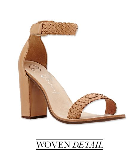 Low chunky heels feel more elevated than a flat, but are still comfortable for walking.