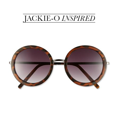 Channel American icon Jacqueline Kennedy with these affordable round sunnies.