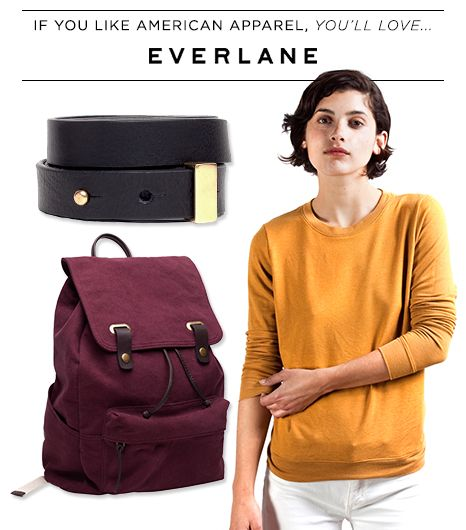 If you like American Apparel, you'll love Everlane.