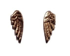 Bing Bang Wing Studs In Yellow Gold