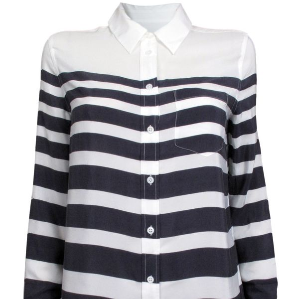 Equipment Reese Striped Blouse