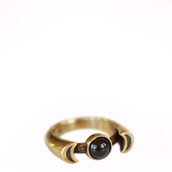 Pamela Love Bronze With Onyx Luna Ring