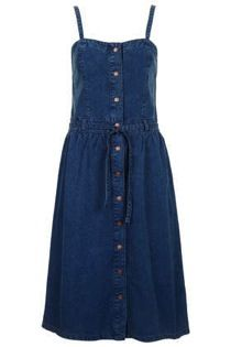 Topshop  Moto Vintage Midi Denim Dress
