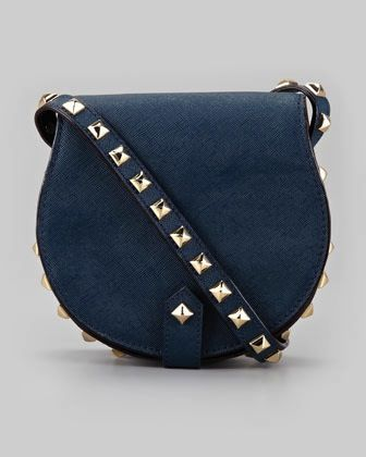 Rebecca Minkoff  Skylar Saffiano Studded Mini Messenger Bag