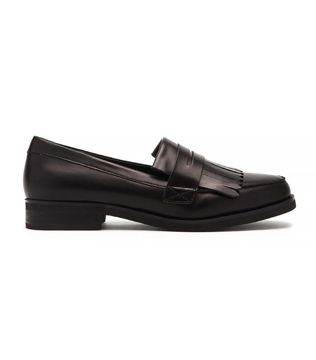 Forever 21 Fringed Faux Leather Loafers
