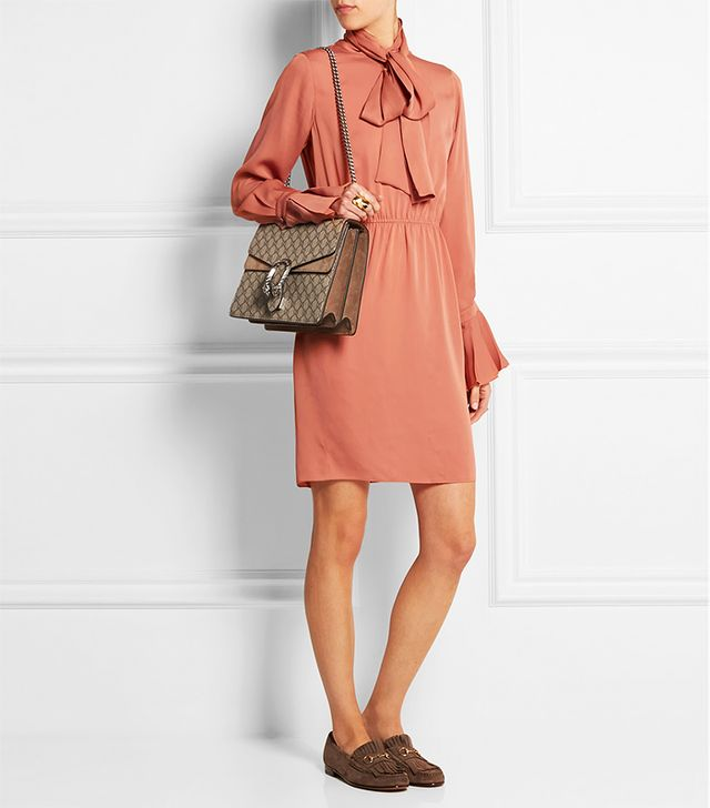 Gucci Pussy-Bow Silk-Georgette Dress