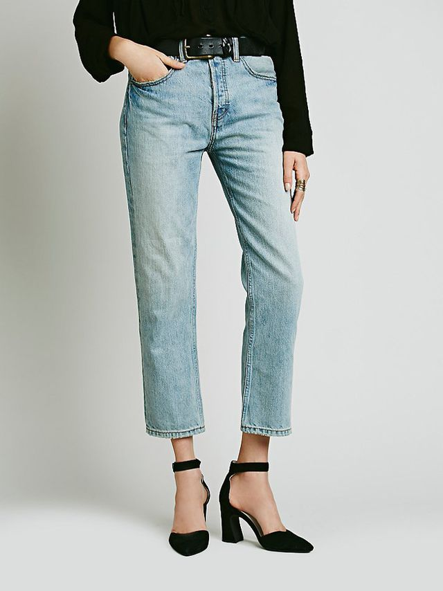 Free People Uptown Slim Straight Jeans
