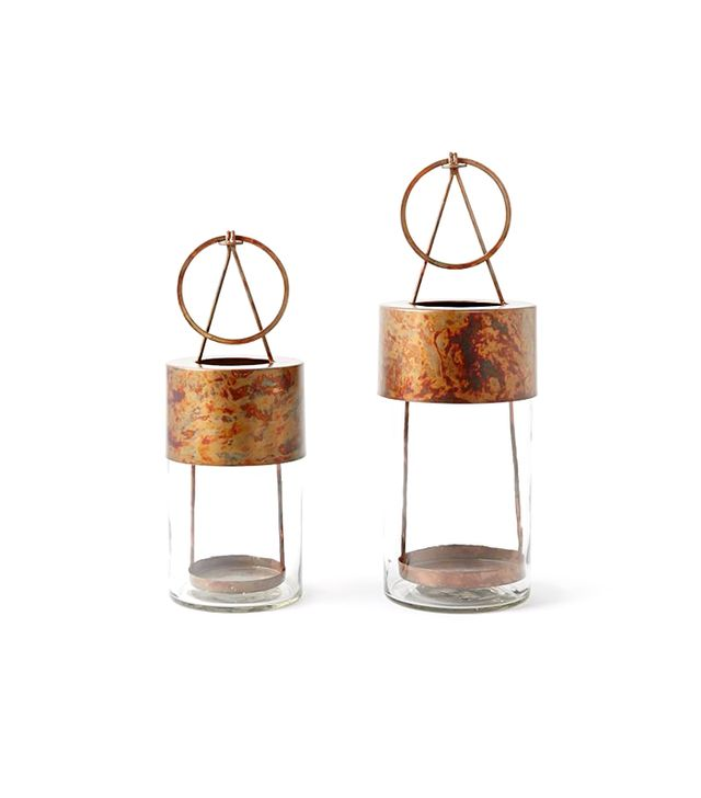 West Elm Oxidized Metal Lanterns