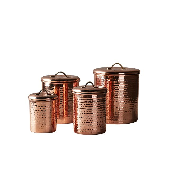 Anthropologie Copper-Plated Canisters